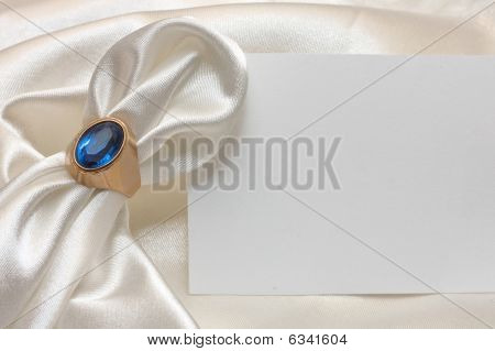 Napkin Ring, Napkin And Card
