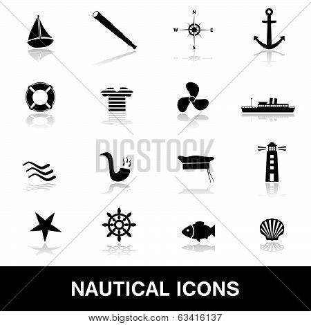 nautical icons eps10