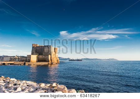 Castle  Dell'ovo And Naples Bay
