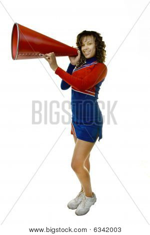 Cheerleader with Megaphone