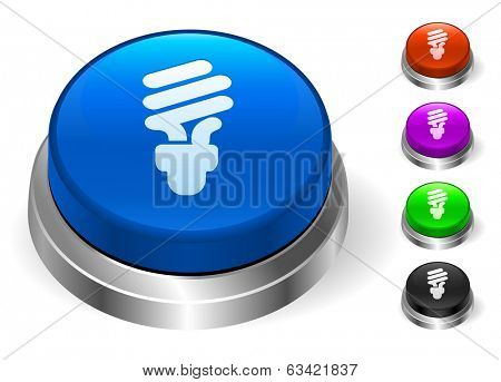 Fluorescent Icons on Round Button Collection