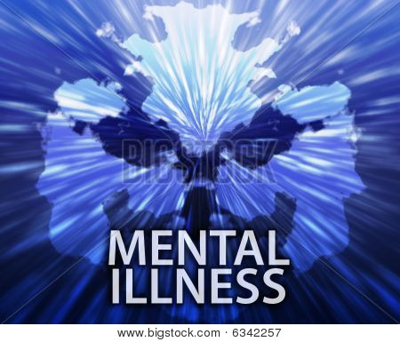 Mental Illness Inkblot Background