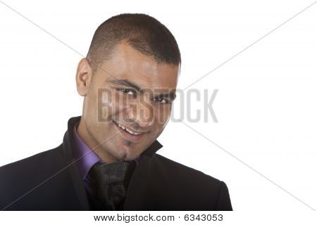 Young Business Man Smiles self confident
