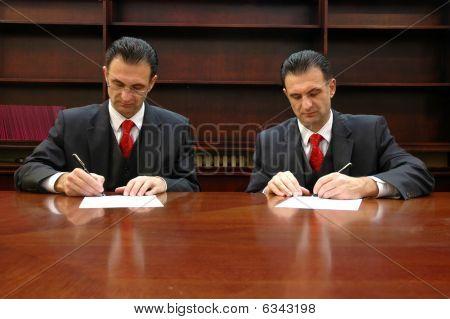 Clone of businessman