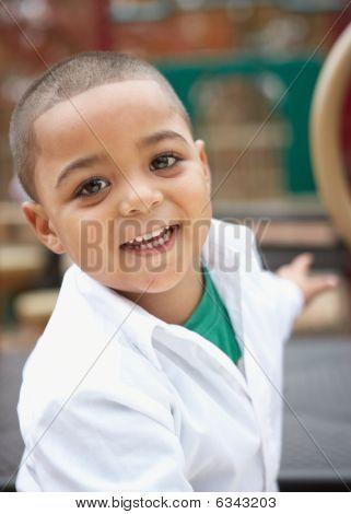 Hispanic toddler boy