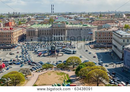View of the Mariinsky palace. Saint-Petersburg