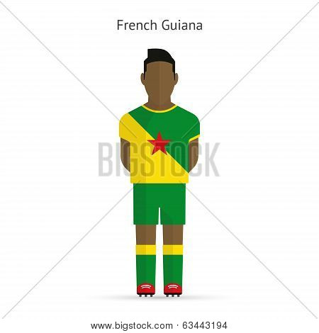 French Guiana football player. Soccer uniform.