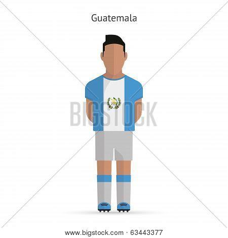 Guatemala football player. Soccer uniform.