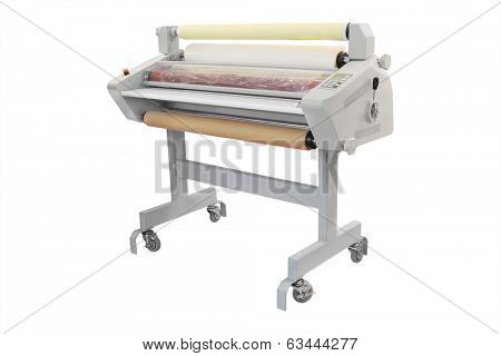 laminator under the white background