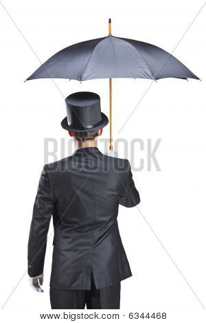Young Man With An Umbrella