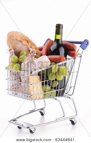 full grocery cart