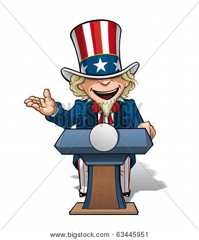 Uncle Sam Presidential Podium Open