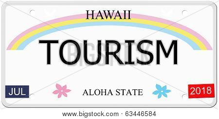Tourism Hawaii License Plate