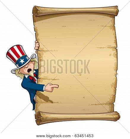 Uncle Sam Pointing At Declaration