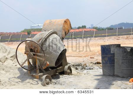 Old Concrete Mixer