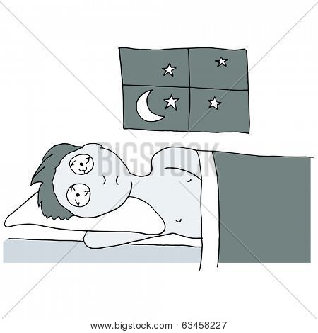 An image of a man having a sleepless night.
