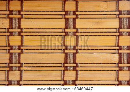 yellow tone bamboo blinds pattern