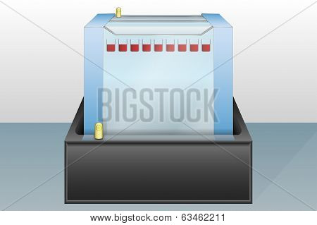 Gel Electrophoresis Device Vector Illustration