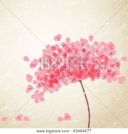 pink flower on grunge background