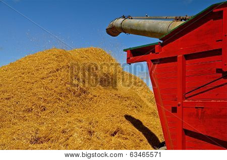 Threshing Machine in Action