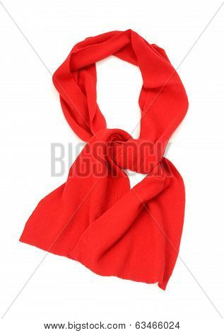 Hers red scarf for winter.