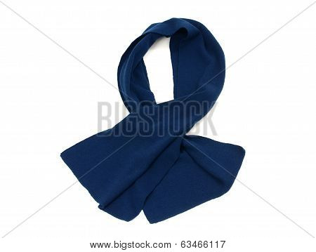 His dark blue scarf for winter.