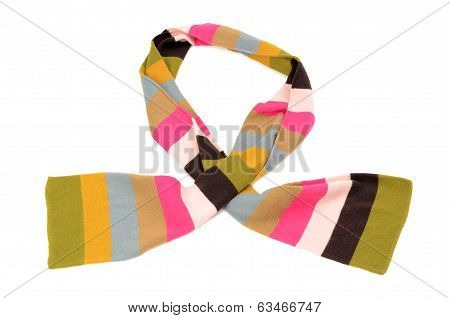 Striped scarf for winter.