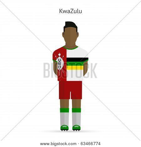KwaZulu football player. Soccer uniform.