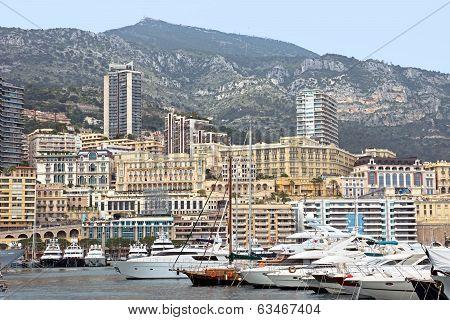 Monaco - Cityscape And Harbor
