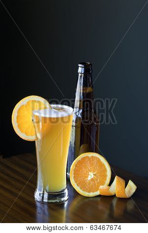 Belgium Wheat Ale With Orange Slice
