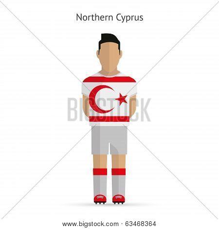 Northern Cyprus football player. Soccer uniform.
