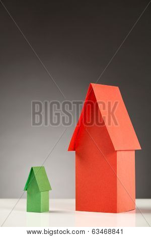 Different Size Paper Houses