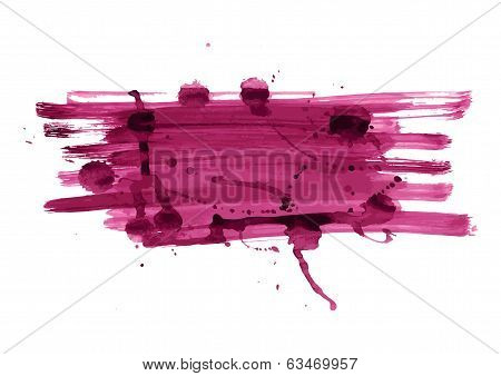 Abstract Bright Color Banner With Blots