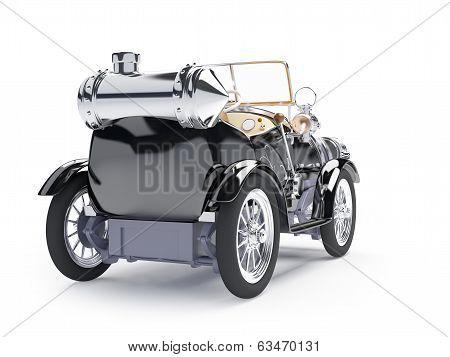 1910 black retro car back