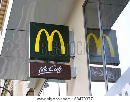 Mcdonald's In Paris, France