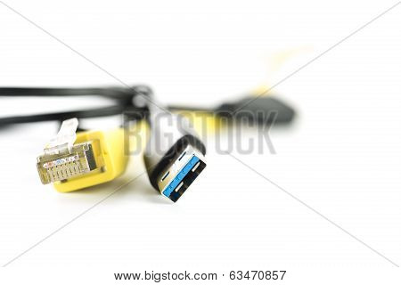 Usb And Ethernet Cable