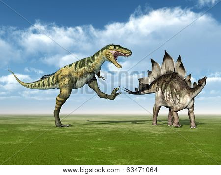 Bistahieversor and Stegosaurus