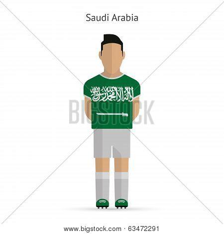 Saudi Arabia football player. Soccer uniform.