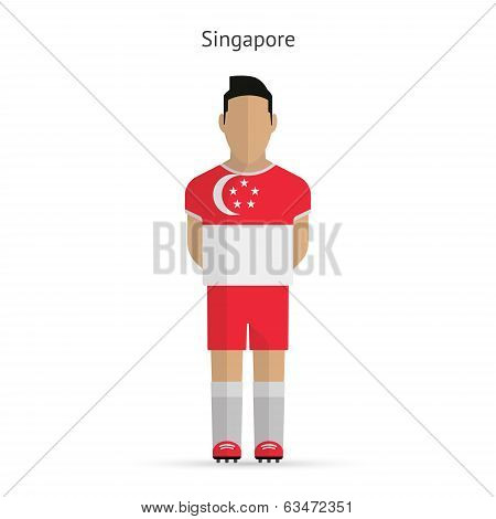 Singapore football player. Soccer uniform.