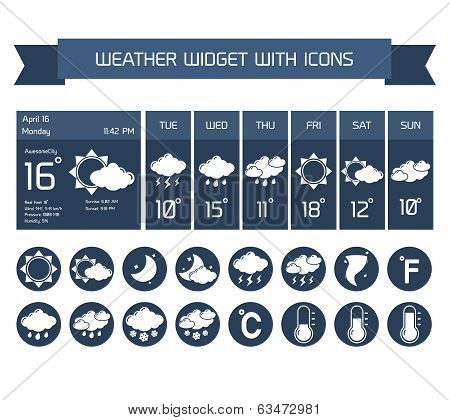 Weather widget icons set