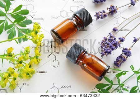 Постер, плакат: aromatherapy and science, холст на подрамнике