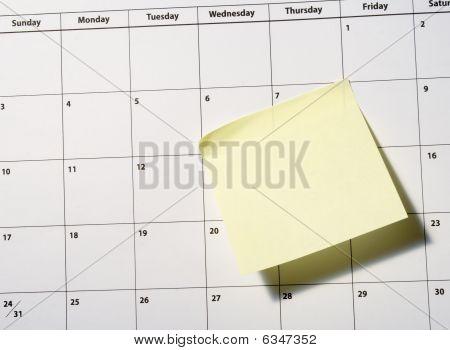 Calendário Closeup