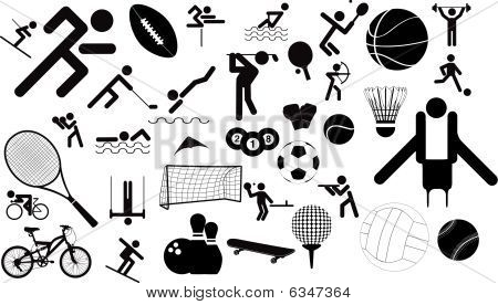 Sports Figures And Equipment