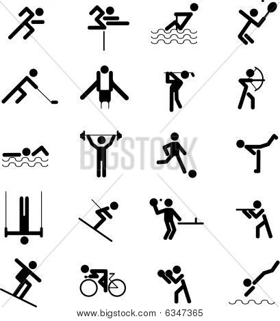 Sports Figures icon set