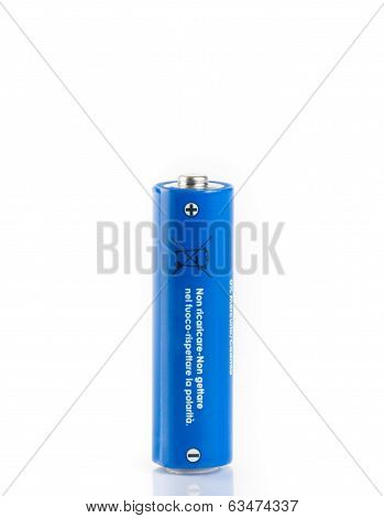 Aa Battery. Isolated On White