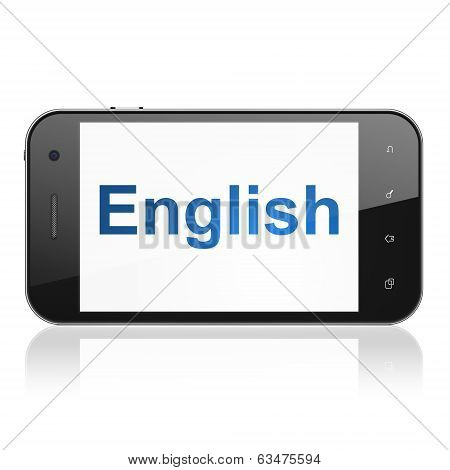 Education concept: English on smartphone