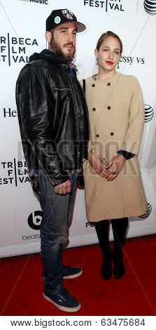 NEW YORK-APR 16: Michael Mosberg (L) and Jemima Kirke attend the world premiere of