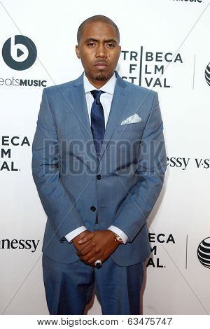 NEW YORK-APR 16: Rapper Nas attends the world premiere of