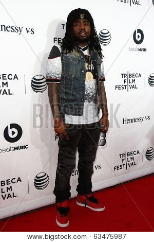 NEW YORK-APR 16: Rapper Wale attends the world premiere of