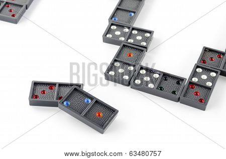 Black Domino Isolated On White